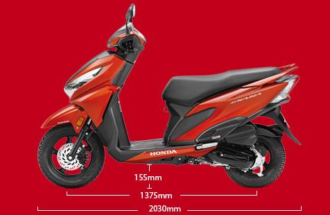 Honda Grazia - Body Dimensions